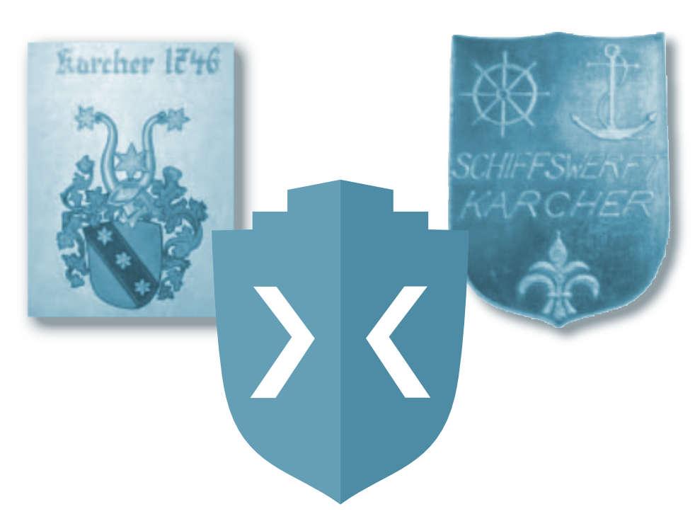 Schiffswerft Karcher Wappen und Logo